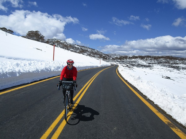 Kerri-Ann Smith climbing Charlotte Pass