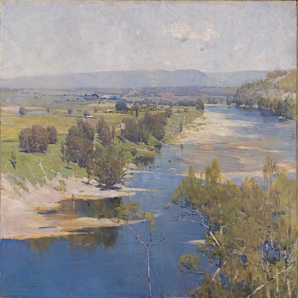 The Purple Noon's Transparent Might by Arthur Streeton